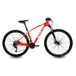 Bicicleta MTB M75 Carbon roja